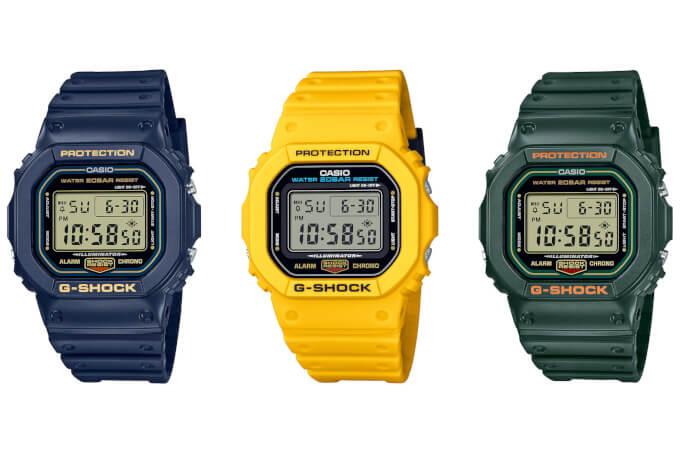 G-Shock Color Origin Squares DW-5600RB-2 DW-5600RB-3 DW-5600REC-9